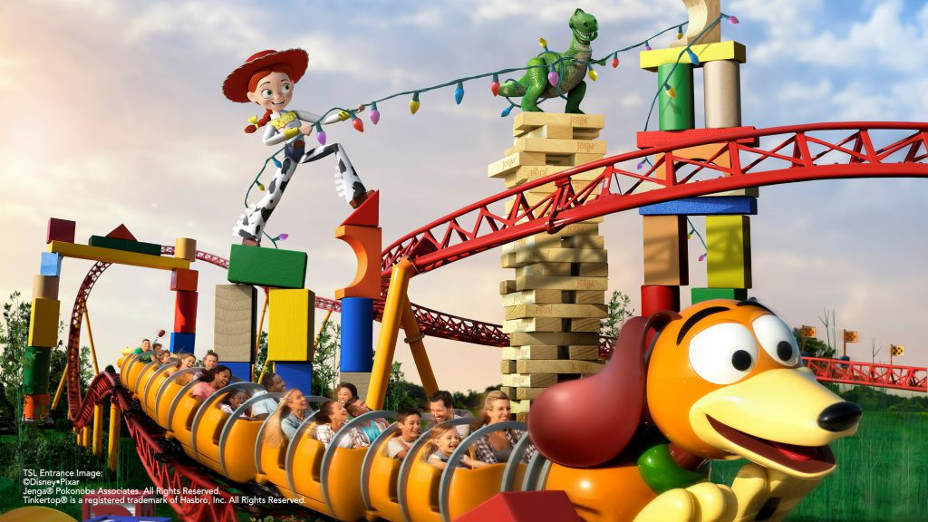 toy story land slinky dog dash in motion